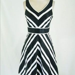 WHBM Mitered-Stripe Tank Dress